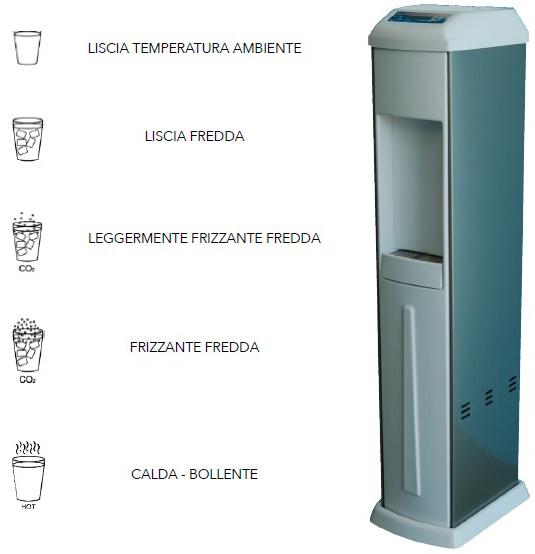 Colonnina acqua per ufficio, aziende, centri estetici, palestre, parrucchieri  Depuratori Acqua ...